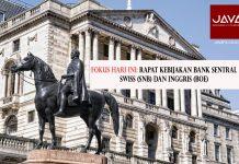 Fokus Pasar Hari Ini : Kebijakan Moneter Bank Sentral Swiss (SNB) dan Inggris (BOE)